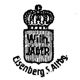 porzellanfabrik wilhelm j ger in eisenberg th ringen porzellanmarken der porzellanfabrik. Black Bedroom Furniture Sets. Home Design Ideas