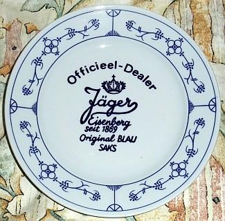 Jäger eisenberg porzellan blau kobalt